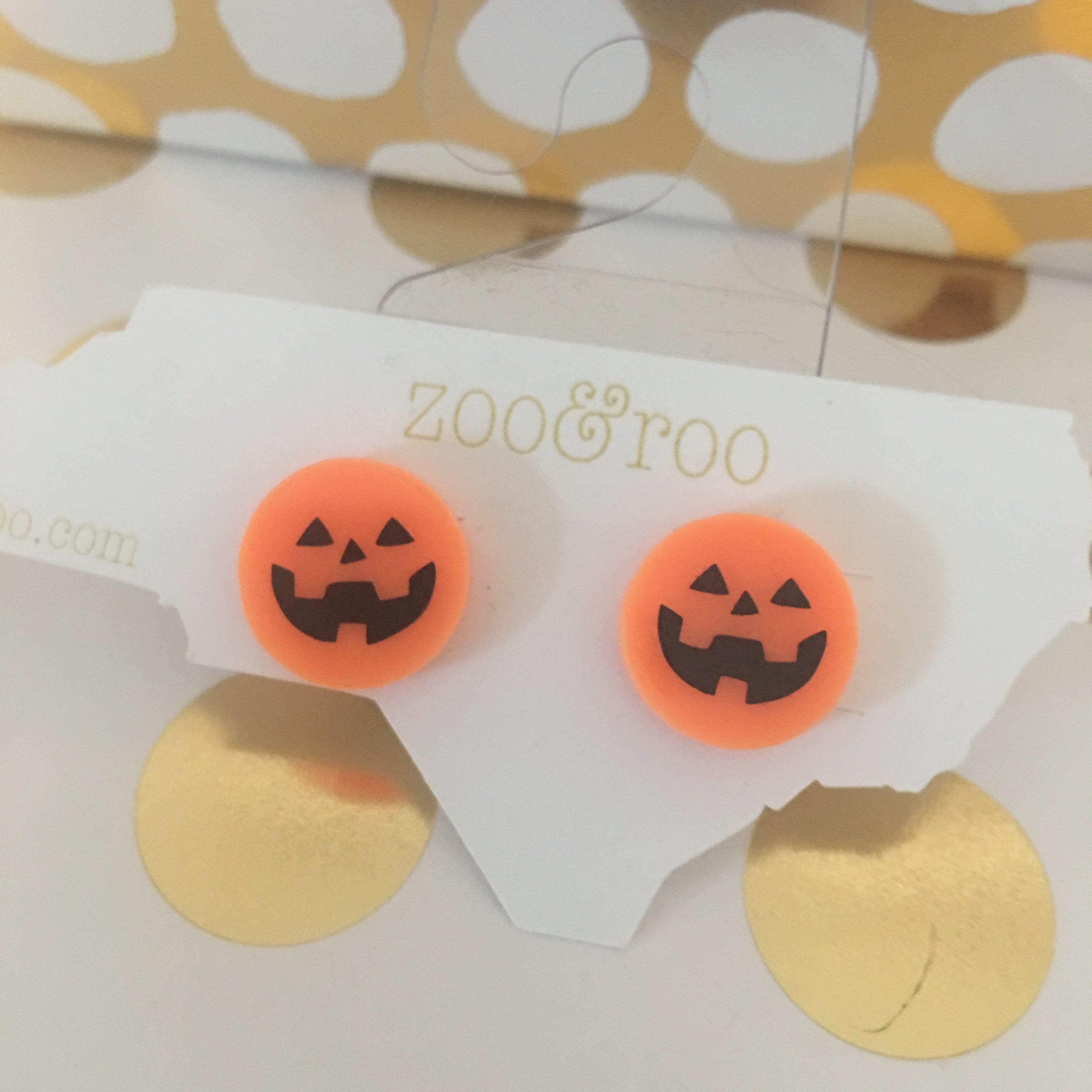 Jack-o-lantern earrings