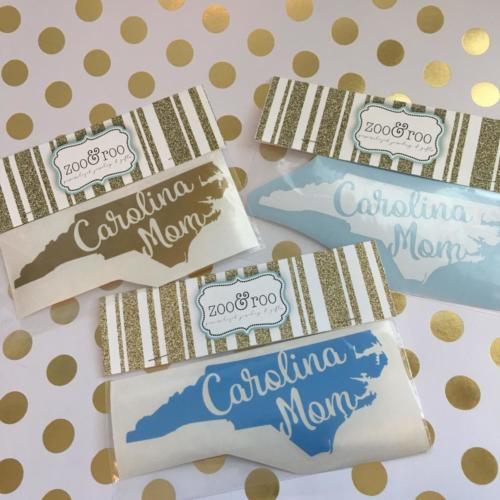 Carolina Girl NC decals gold white blue