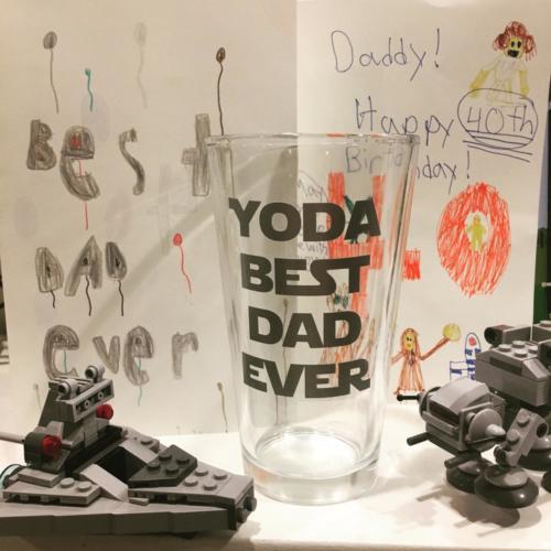 yoda best dad ever pint glass