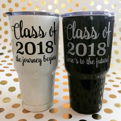 class of 2018 stainless tumblers