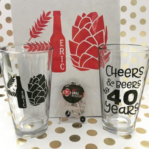 Cheers beers 40 years custom logo beer