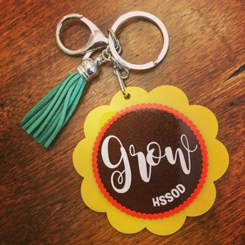 Grow Sunflower Keychain