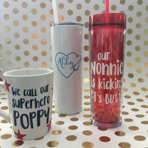 custom mug and tumblers
