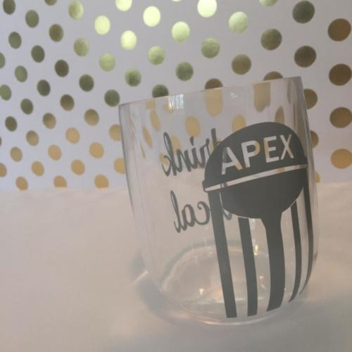 Apex NC drink local wine glass