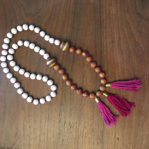 3 three tassel necklace