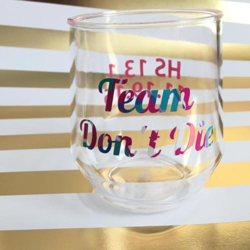 marathon custom wine glass