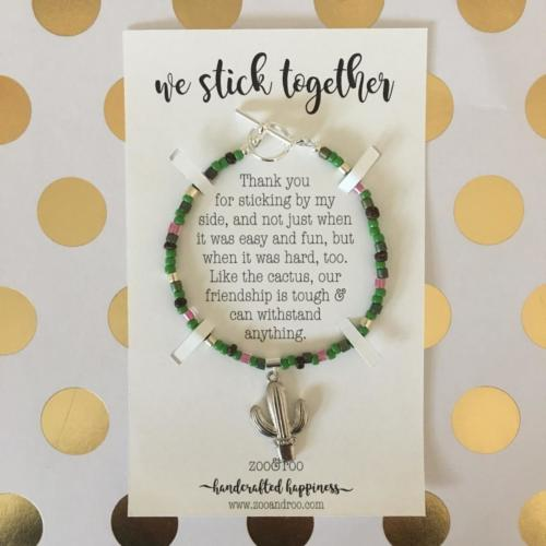 cactus friendship bracelet by zoo&roo - we stick together