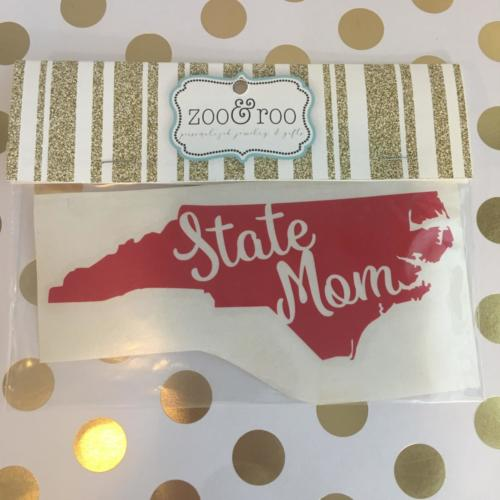 State Mom decal by zoo&roo