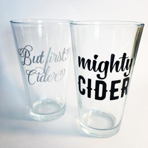 cider pint glasses