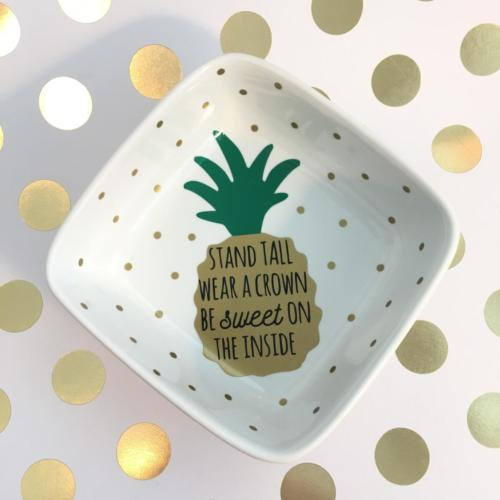 be a pineapple jewelry dish
