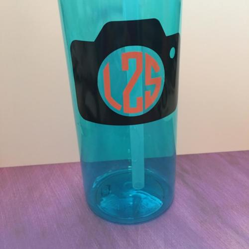 camera monogram decal