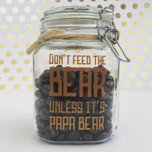 Don't feed the bear unless its papa bear custom decal