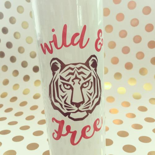 Wild & Free tiger stainless skinny tumbler
