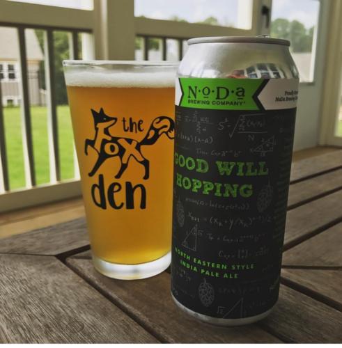 The Fox Den custom pint glass beer