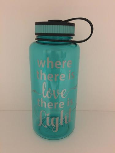 where there is love there is light water bottle
