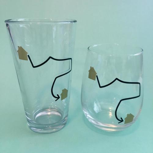 custom wine pint glasses