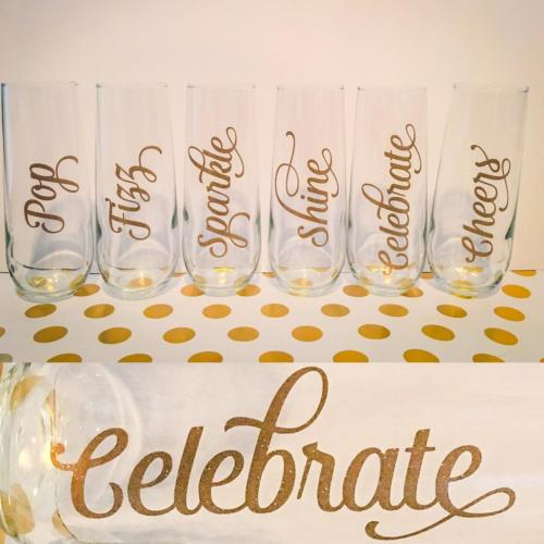 stemless champagne flutes cheers celebrate pop fizz sparkle shine