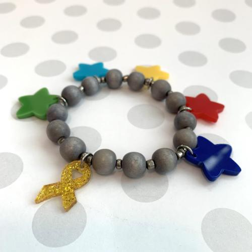 Pediatric Brain Tumor Foundation bracelet