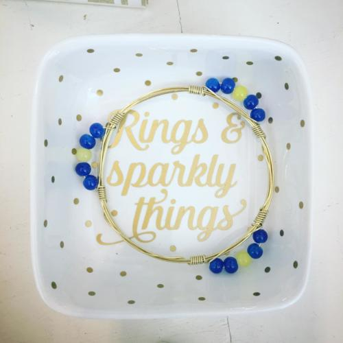 Rings & Sparkly things jewelry dish