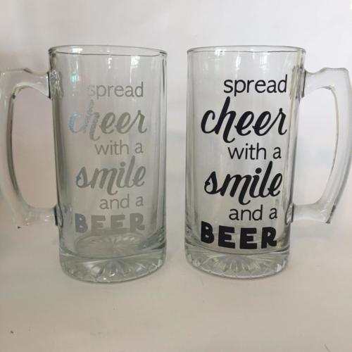 cheer smile beer mug