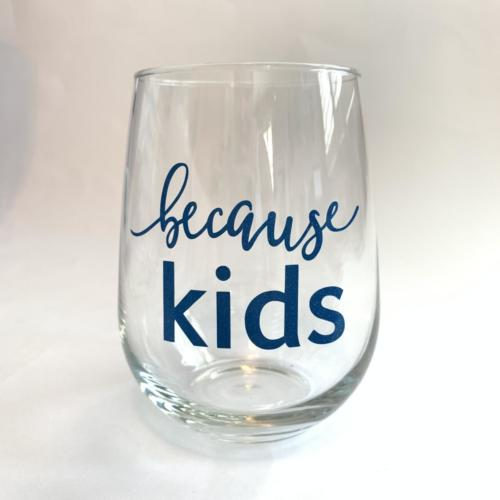 because kids wine glass by zoo&roo