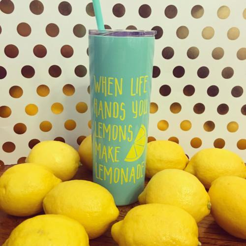 make lemonade stainless skinny tumbler
