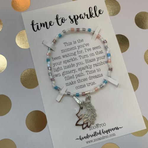 unicorn time to sparkle bracelet by zoo&roo