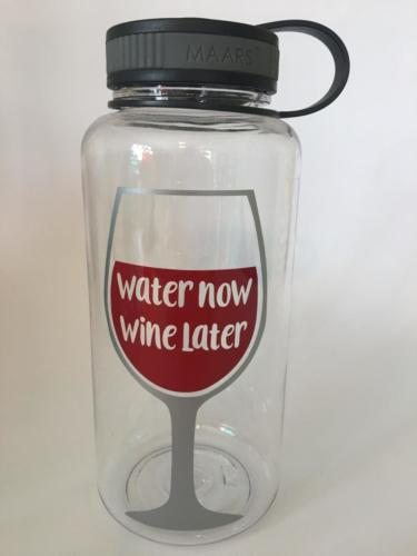 water now wine later wide mouth bottle